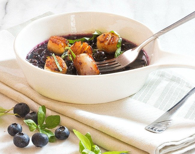 Seared Scallops in Blueberry Sauce - Marina Del Rey Foods ...